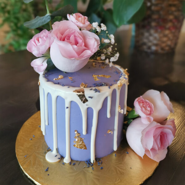 Floral Cake Purple and Pink