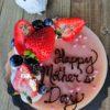 strawberry lychee cake